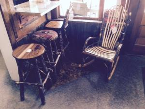 Stools And Adult Rocker-Walnut/Hickory Seats Available