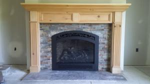 864 TRV GSR2 Fireplace With French Country Face And Ledgestone Fireback