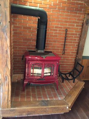 Lopi Leyden Wood Stove-Firerun Red