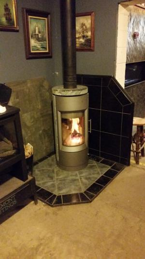Hearthstone Bari Wood Burning Stove-Soapstone With Gray Matte Finish