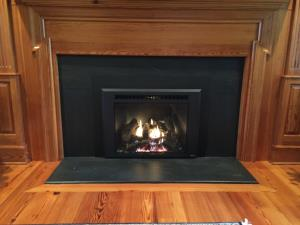 Travis 616 Gas Insert GSR2 With Rectangular Bevel Black Face