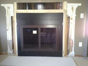 Heatlilator I80CT ZC Wood Fireplace With Stoll Custom Door