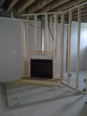 Travis 564 HO GSR2 SCR ZC Gas Fireplace During Construction