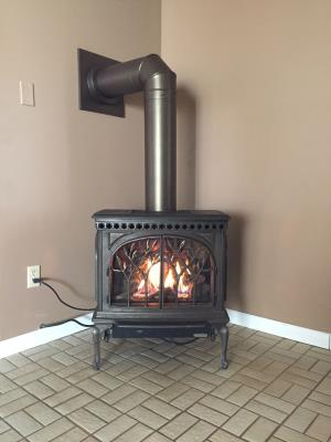 Tree Of Life GS2-SCR Gas Free Standing Stove In Patina Bronze