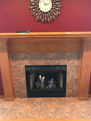 Empire 18 Inch Slope Glaze Burner With Sassafras Logs