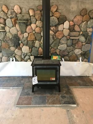 Hearthstone Mansfield Brown Enamel w/Polished Soapstone Wood Burning Stove